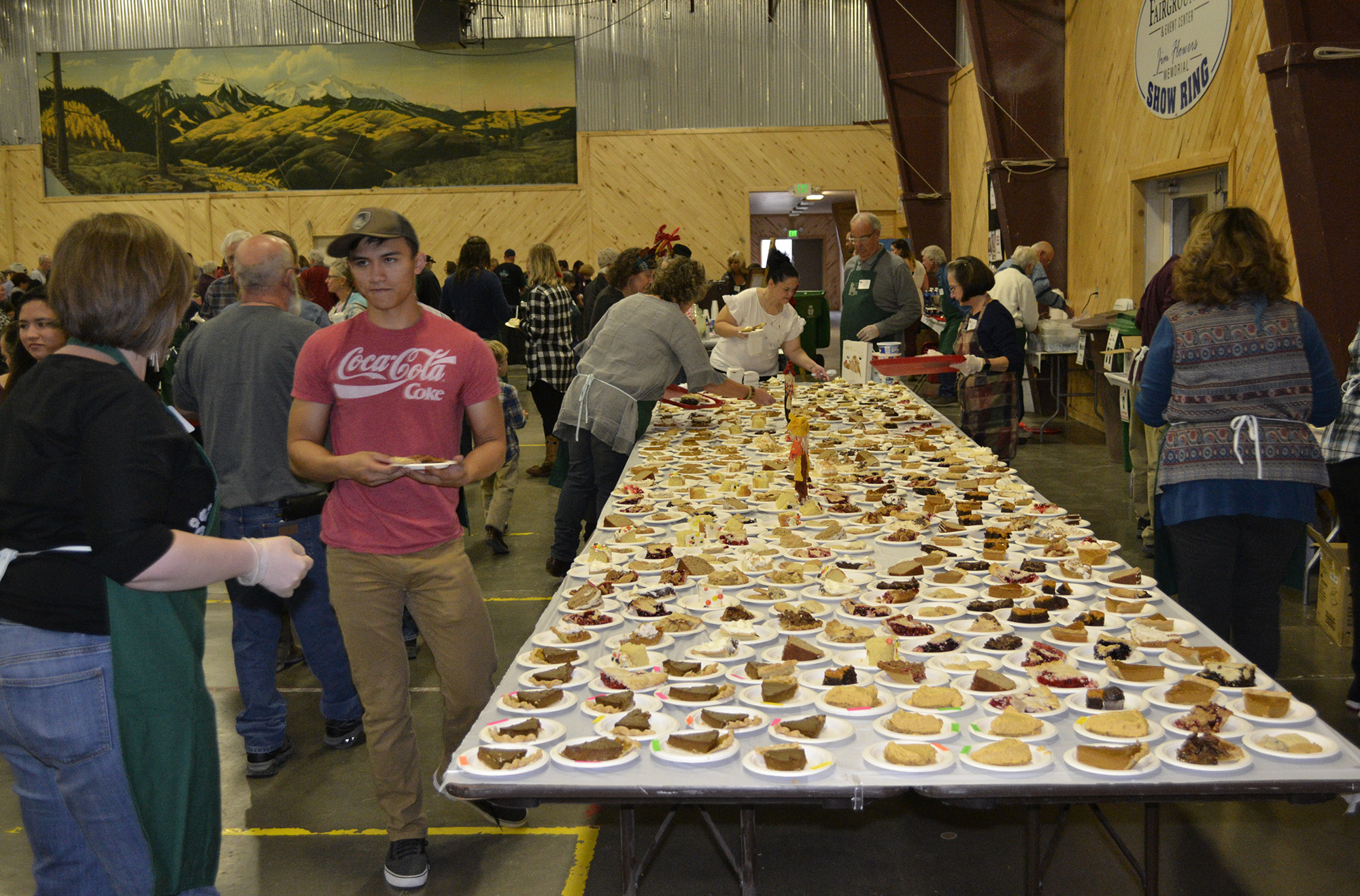 Montrose Community Dinners' Pie Table