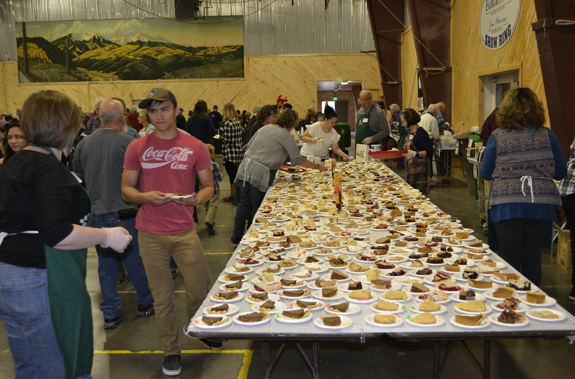 Montrose Community Dinners' Pie Table