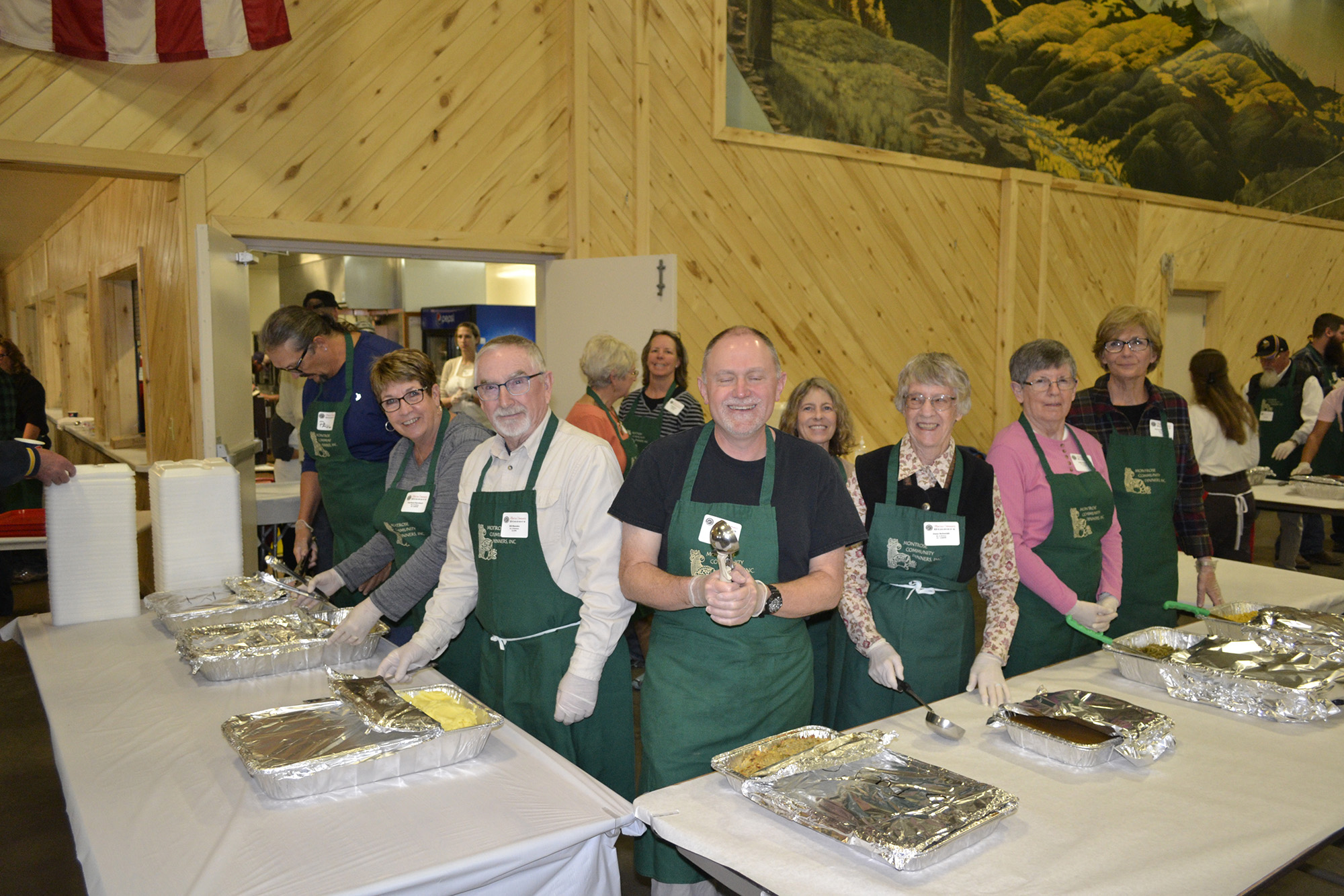 Thanksgiving Volunteers at Montrose Community Dinners